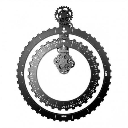 Zegar koła zębate czarny firmy Invotis - 1552