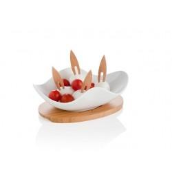 miseczka na przekąski WHITE firmy Brandani - 55443