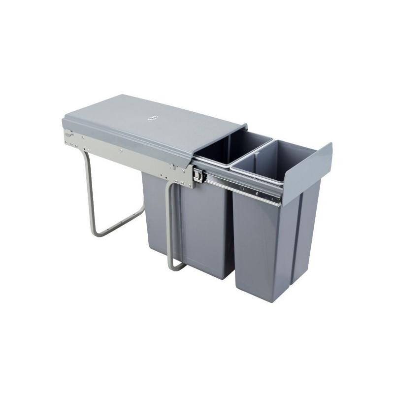 Kosz na śmieci 10L+20L-30cm/SZARY