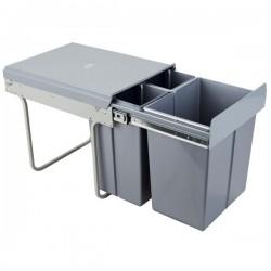 Kosz na śmieci 2x10L+20L-40cm/SZARY