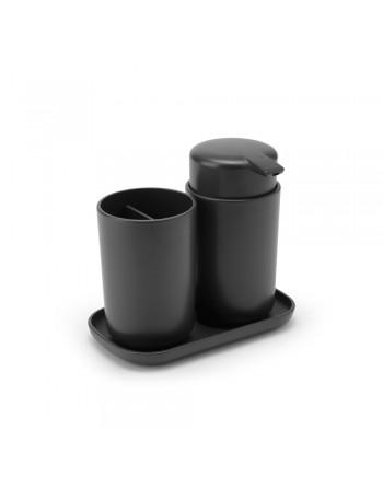 Zestaw akcesoriów łazienkowych 3 szt. ReNew ciemnoszary 280368