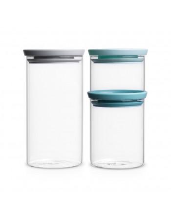 Zestaw 3 szklanych pojemników 0.3l,0.6l,1.1l 298325