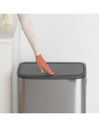 Kosz na śmieci Touch Bin BO 2x30L stal matowa 221422
