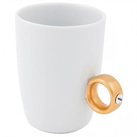Kubek ze złotym pierścionkiem firmy Invotis - 8044