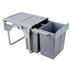 Kosz na śmieci 2x10L+20L-45cm/SZARY