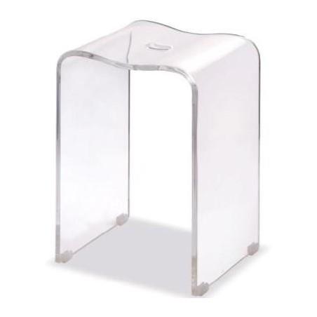 Stołek łazienkowy akrylowy firmy Ljungman - L525018