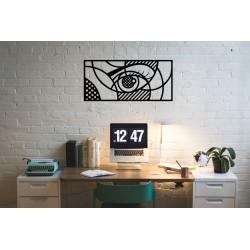 Geometric Eye metalowa dekoracja ścienna