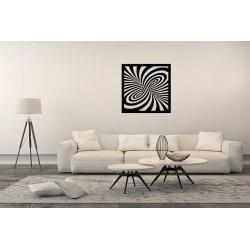 Spirala 3D metalowa dekoracja ścienna