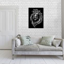 Lew metalowa dekoracja ścienna