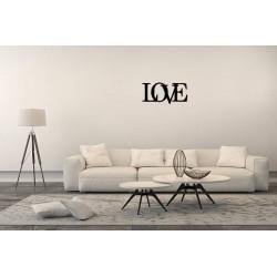 Love metalowy napis na ścianę