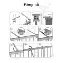 Suszarka sznurkowa balkonowa Ring firmy Gimi