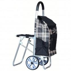 Wózek z krzesełkiem na zakupy SitGo
