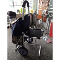 Wózek na zakupy SitGo z krzesełkiem