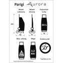 Sześciokołowy wózek na zakupy Aurora parigi