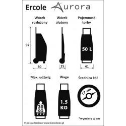 Tani wózek na zakupy Ercole fiirmy Aurora