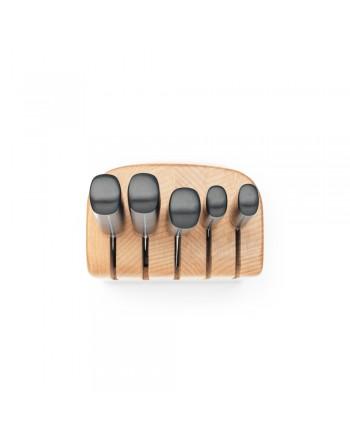 Zestaw 5 noży w drewnianym bloku Profile 260483