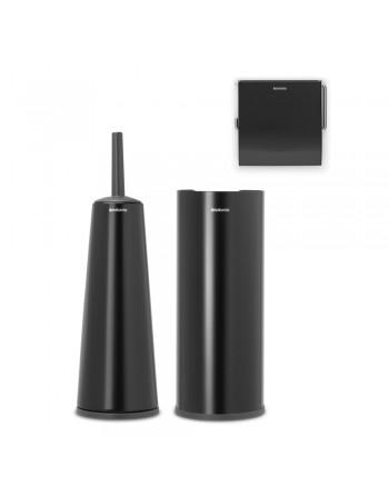 Zestaw akcesoriów toaletowych 3 szt. ReNew czarny mat 280603